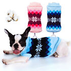 Knit Dog Sweaters Knitwear Christmas Cat Clothes Pet Jumper Vest Warm Coat US