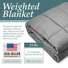 Heavy Weighted Blanket Twin / Queen Size 12lb/15lb Deep Sleep Reduce Anxiety image