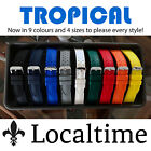 TROPICAL Smooth Silicone Rubber Sport Dive Watch Strap 9 Colours 18 20 22 & 24mm
