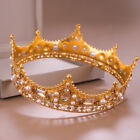 Luxury 3 Colors Crystal Queen Wedding Bridal Party Pageant Prom Round Crown