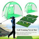 Golf Hitting Cage Practice Net Trainer +Training Mat With 3 Balls