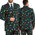US Fashion Novelty Christmas Suit Jacket Festive Funny Xmas Party Coat#