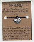 Make a wish Bracelet Rope Adjustable String Lucky Friendship Fashion Gift Charm