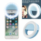 Selfie Portable LED Ring Light Flash For iPhone Mobile Device Universal USA