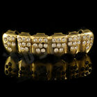 14K Gold Plated Bling Out ICED CZ Teeth GRILLZ New Bottom Tooth Cap Mouth Fronts