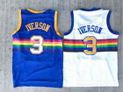 Hardwood Classics Allen Iverson 3 Denver Nuggets Throwback Blue/White Men Jersey