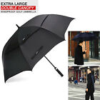 """Extra Large Golf Umbrella 62""""/68"""" Automatic Open Windproof Double Canopy Vented"""