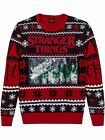 Mens Stranger Things Ugly Christmas Sweater Flip Sequin Holiday Shirt