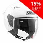 MDS G240 Open Face Motorcycle Helmet White