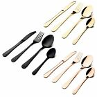 Sabichi Glamour 16 Piece Cutlery Set Copper / Gold / Matt Black Dishwasher Safe