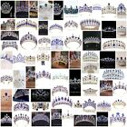 72 Styles Blue Crystal Queen Princess Tiara Crown Combs Wedding Party Pageant
