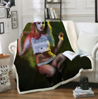 Funny Harley Quinn 3D Print Sherpa Blanket Sofa Couch Quilt Cover throw blanket $15.19 USD on eBay