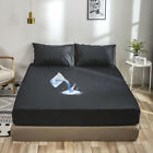 Waterproof Mattress Cover Bed Bedding Fitted Sheet Deep Queen King Pad Protector image
