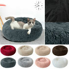 UK Comfy Calming Dog/Cat Bed Round Super Soft Plush Pet Bed Marshmallow Cats Bed