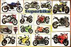 SuperBike Poster World Racing Street Motorcycle Collection Wall Art Deco Model