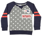 Outerstuff NFL Little Girls New England Patriots Logo Polka Dot Long Sleeve Crew $24.95 USD on eBay
