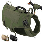 No Pull Tactical Dog Harness Large Breed K9 Molle Service Adjustable Vest M L
