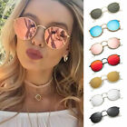 Fashion Oversized Round Sunglasses Women Men's Vintage Retro Mirror Glasses
