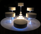 Multi Tier Wedding Cake Stand with White LED Lights - 6 Tier