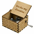 Купить US Vintage Wooden Music Box Antique Hand Crank Engraved Toys Kids Birthday Gift