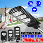 50/100/150 LED Solar Street Light Wall Lamp Radar Motion Sensor Outdoor Garden