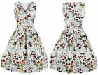 Women's Vintage Floral V-neck 1950s Rockabilly Casual Evening Party Swing Dress