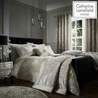 Catherine Lansfield Crushed Velvet Duvet Covers Natural Luxury Quilt Bedding Set