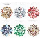 Snowflake Christmas Ornament Handmade Recycled Aluminum Can Many Varieties $3.75  on eBay