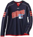 Reebok NHL Mens New York Rangers Long Sleeve Jersey Shirt Top, Navy $14.95 USD on eBay