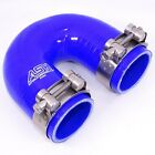 180 Degree Silicone Radiator Hose Elbow - Plus 2x T Bolt Stainless Hose Clamps