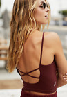 NEW Free People Movement Strappy Back Tighten Up Tank Chocolate XS/S-M/L 34.80