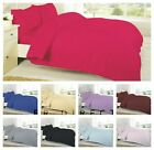 Fitted or Flat Sheet or Duvet Cover Plain 200 Thread Count 100% Egyptian Cotton image