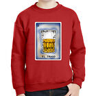 El Trago Number 5 Kids Sweatshirt Mexican Chicano Loteria Long Sleeve - 1804C