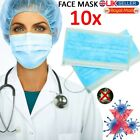 1-100Pc Flu Surgical Face Masks With Earloops Disposable Face Mouth Mask Ear Lot