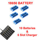 18650 Battery High Drain Rechargeable 3.7V Li-ion Charger For Flashlight Torch