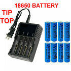 3000mAh 18650 Battery High Drain Rechargeable 3.7V Li-ion Charger For Doorbell