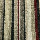 Stripe Carpet Red Hard Wearing Oxford Striped £9.50 sqm 4m x Any Length