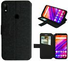 BLU G8/ BLU V9 Leather Wallet Pouch Cover Card Holder