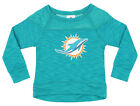NFL Girls Youth Miami Dolphins Streaky Performance Sweatshirt Top, Aqua $19.99 USD on eBay