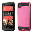 HTC Desire 626 Brushed Hard Silicone Case Cover For Men Women