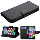Microsoft Lumia 640 T-Mobile / MetroPCS Wallet Case Cover Flip With Strap