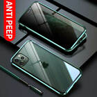 New For iPhone 11 Pro Max Anti-Spy 360° Double-Side Magnetic Tempered Glass Case $12.99 USD on eBay