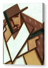 Cubist Clint Eastwood Wall Art Wild West Gun Fight Outlaw Cowboy Pistol  Canvas