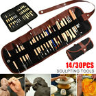14/30Pcs Wood Sculpting Tools for Polymer Clay Pottery Art Craft US image