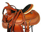 15 16 WESTERN RODEO USED SADDLE SHOW BARREL RACING TOOLED LEATHER HORSE TRAIL
