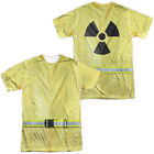 New Hazmat Suit Allover Front Back Costume Halloween Outfit Uniform T-shirt top