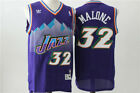 New Utah Jazz #32 Karl Malone Retro Swingman Basketball Jersey Purple Size:S-XXL on eBay
