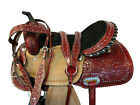 TRAIL COMFY SADDLE 15 16 WESTERN HORSE PLEASURE FLORAL TOOLED LEATHER PACKAGE