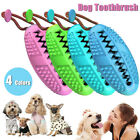 Dog Toothbrush Chew Stick Cleaning Toy Silicone Pet Brushing Oral Dental  *