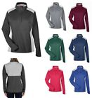 LADIES LIGHTWEIGHT POLY MELANGE PERFORMANCE 1/4 ZIP PULLOVER, CONTRASTING XS-3XL